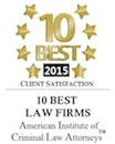 top ten PA criminal defense