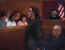 merlino trial courtroom sketch