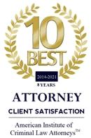 Top Ten PA Criminal Lawyers 2014-2021